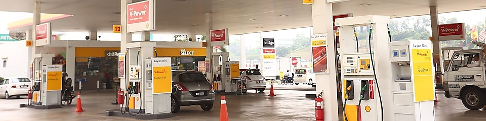 Pumps at a Shell station in Malaysia