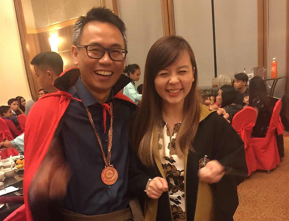 Alyssa with her Maintenance Manager during Shell Sarawak Asset Dinner
