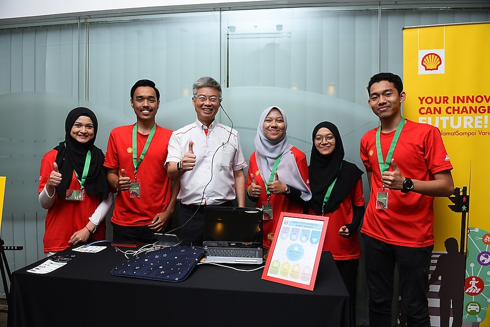 Team UPM Serdang with their Anti-Drowsiness Alert System