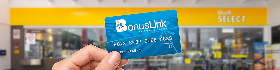 Earn Bonuslink points at Shell Select