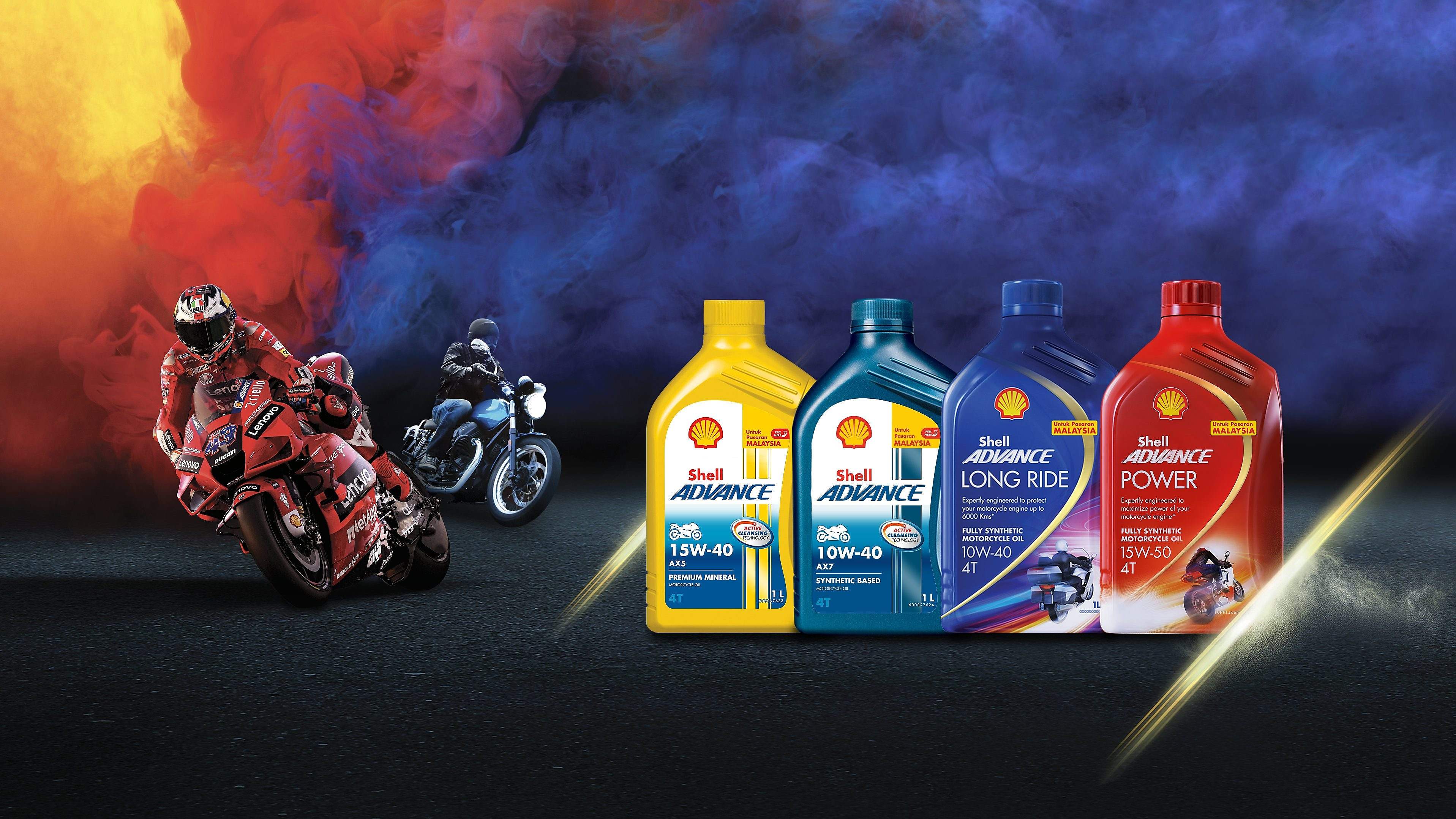 Shell Advance motorcycle engine oils