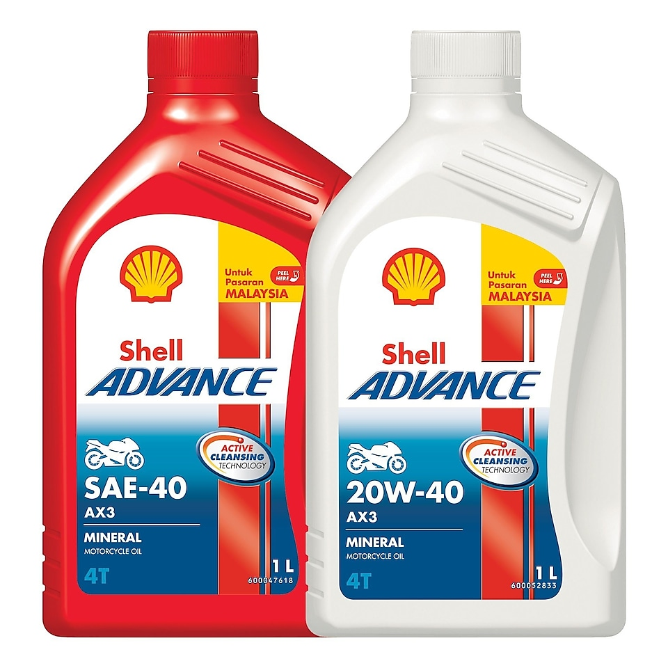 Shell Advance AX3 SAE-40 and 20W-40