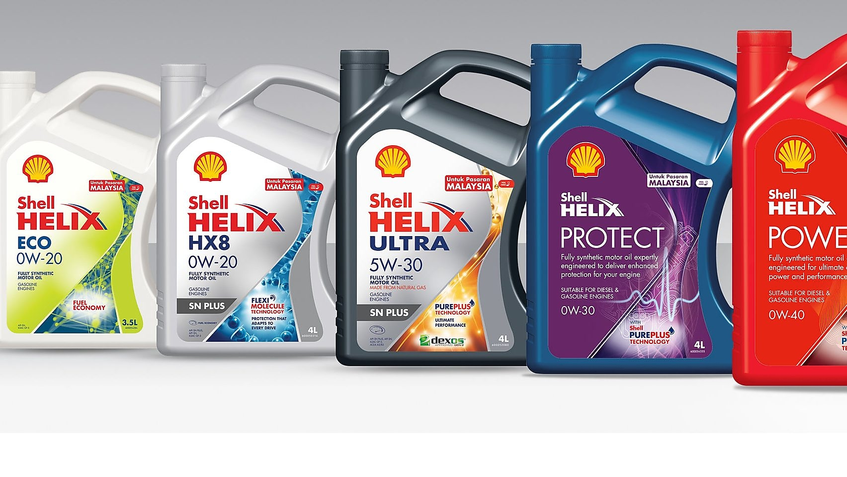 Shell Helix Fully Synthetic Motor Oils