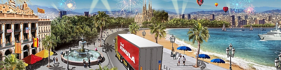 Barcelona, Spain view