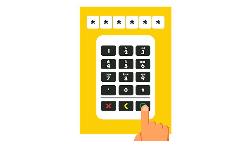 "Key in your Personal Identification Number (PIN) then press ""O"" to confirm (default PIN is your birthdate – DDMMYY)."